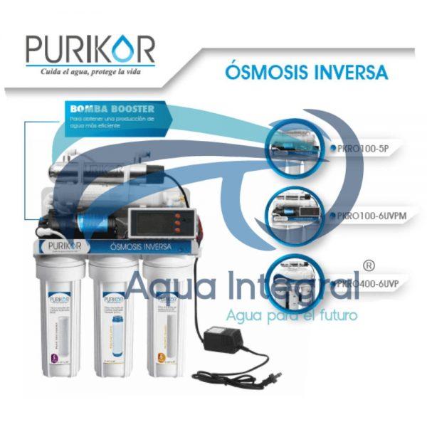Sistema de Osmosis inversa con UV en punto de uso 6 etapas